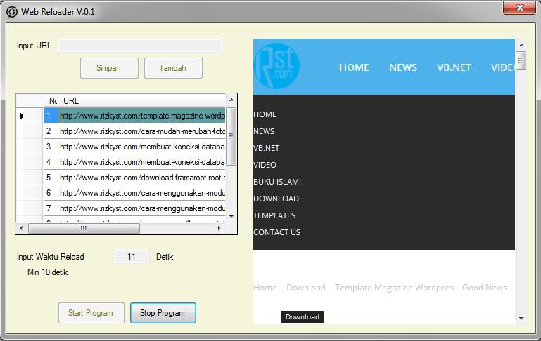 Aplikasi Web Reloder
