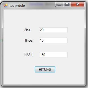 Cara Menggunakan Module Pada VB.Net