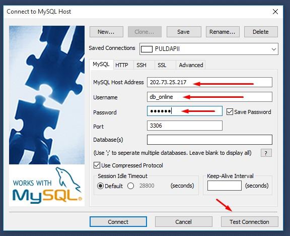Koneksi VB.Net ke MySql Database Online